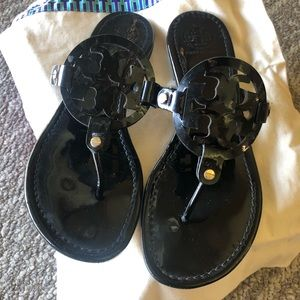 Size 10 Tory Burch Black Miller sandals
